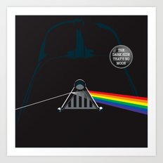 The Dark Side... That's No Moon! Art Print