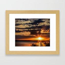 Another Fish Hook Lake sunrise Framed Art Print