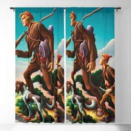 Classical Masterpiece 'The Kentuckian' by Thomas Hart Benton Blackout Curtain