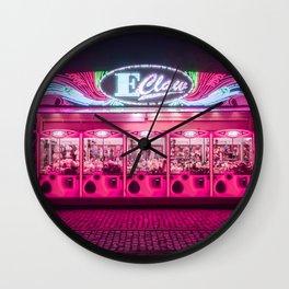 Funfair Claw Machine Wall Clock