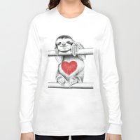 sloths Long Sleeve T-shirts featuring If Care Bears were sloths... by 13 Styx