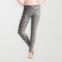 Leopard print rose quartz pantone color minimal animal print cute children pattern cheetah spots  Leggings
