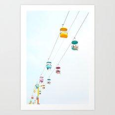 Santa Cruz Gondolas Art Print