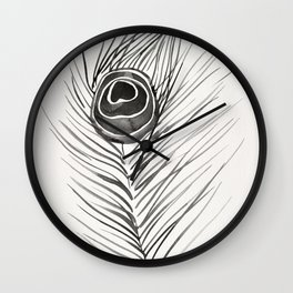 Peacock Feather – Black Palette Wall Clock