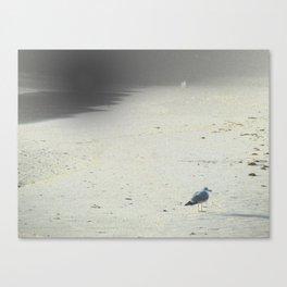 On The Beach, Winter Canvas Print