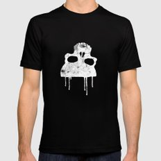 GRUNGE BACKGROUND WITH SKULL Black MEDIUM Mens Fitted Tee