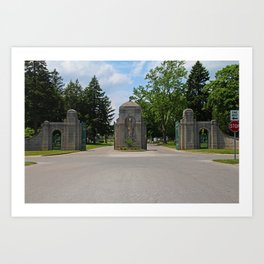Calvary Cemetery Gate I Art Print