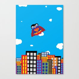Pengwin that is Super Canvas Print