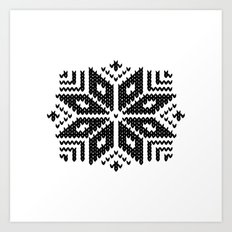 knit flake Art Print