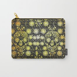 Gold Tiled Sugar Skulls Carry-All Pouch
