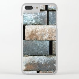 Construction Block Texture Clear iPhone Case