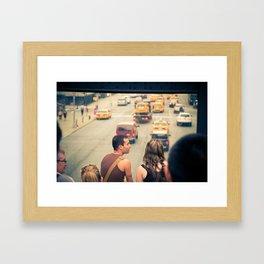 The Taxi Show Framed Art Print