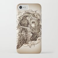 crow iPhone & iPod Cases featuring Crow by Alice Macarova