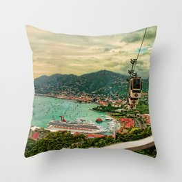A View from Above St. Thomas Throw Pillow