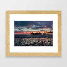 Huntington Beach Sunset  1/26/14 Framed Art Print