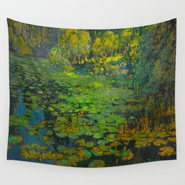 Václav Radimský (1867-1946) Water Lilies Impressionist Landscape Oil Painting Wall Tapestry