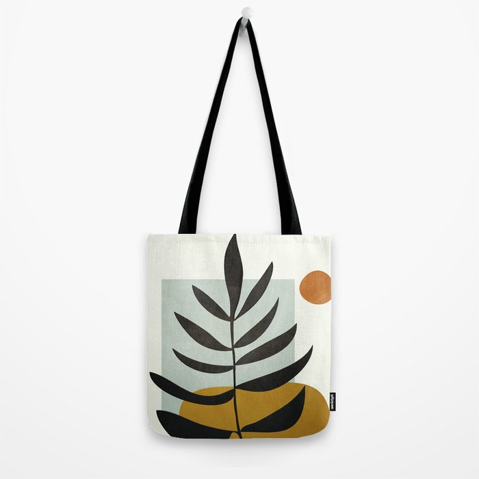 Soft Abstract Large Leaf Tote Bag