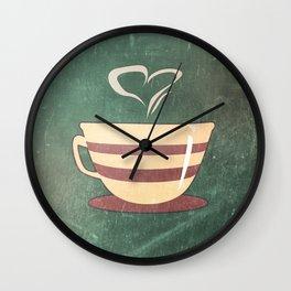 Coffee is love illustration Wall Clock