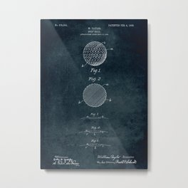 1906 - Golf ball patent art Metal Print