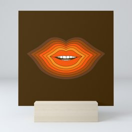 Pop Lips - Golden Mini Art Print