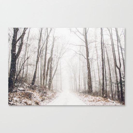 Winter path #photography #society6 Canvas Print