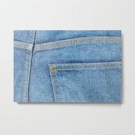 Blue Jeans Back Pocket Metal Print