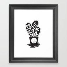 cactus die kill destroy Framed Art Print
