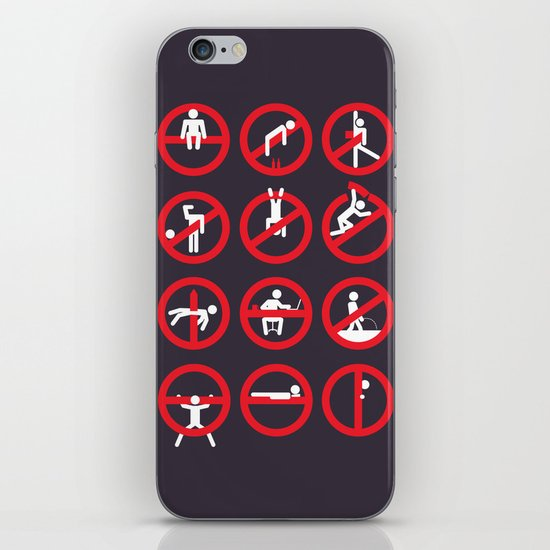 Not Permitted iPhone & iPod Skin
