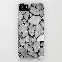 black'n white wood iPhone Case