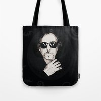 tim shumate Tote Bags featuring TIM BURTON by Rocky Rock
