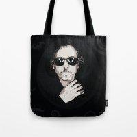 tim burton Tote Bags featuring TIM BURTON by Rocky Rock