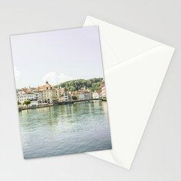 Luzern City and Lake View - Switzerland Stationery Cards