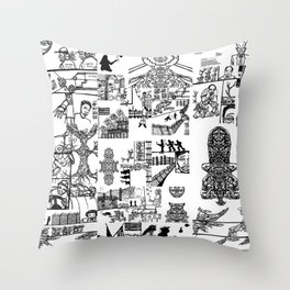 Mexican Jazz Throw Pillow