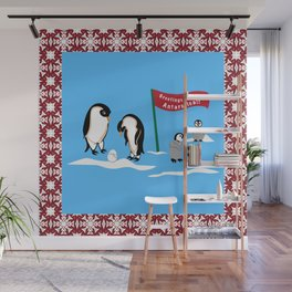 Greetings From Antartica Wall Mural