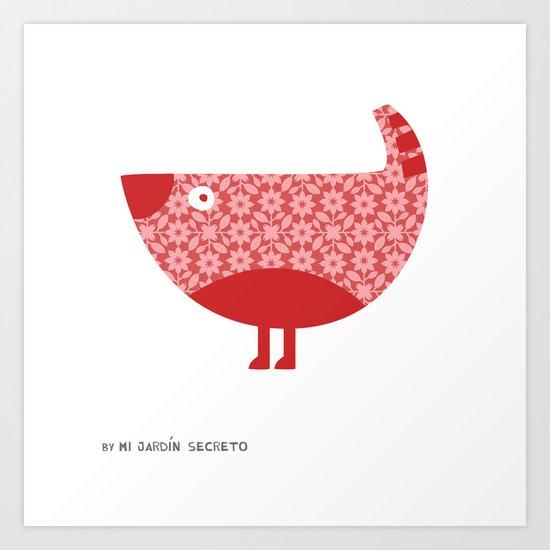 KOKORA (red) Art Print