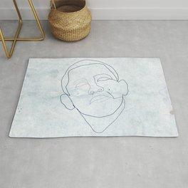 Barack Obama one-line drawing Rug