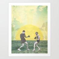 """Boxing Couple"" Art Print"
