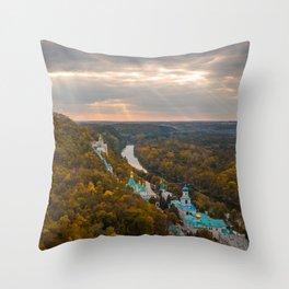 Holy Mountains Monastery (Ukraine) Throw Pillow