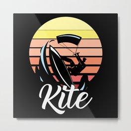 Kite Kitesurfing Kiteboarding Kitesurfer Gift Metal Print