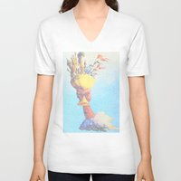 monty python V-neck T-shirts featuring Monty Python & The Holy Grail. The Script Print! by Robotic Ewe