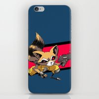 rocket raccoon iPhone & iPod Skins featuring ROCKET RACCOON by Walko
