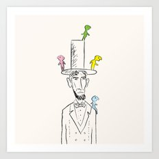 The things that lived on Lincoln. Art Print