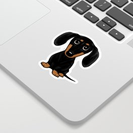 Black and Tan Shorthaired Dachshund Sticker