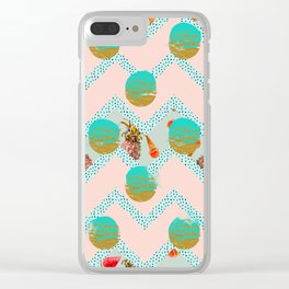 Forms of tropical patterns Clear iPhone Case