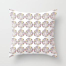 spiral 1-circle,mystical,ring,twist,disc,circular,abstract Throw Pillow