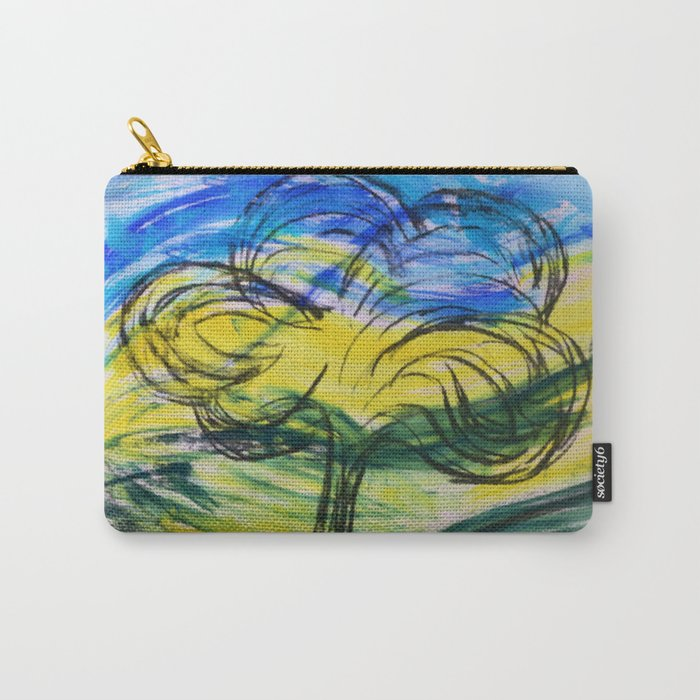 Valley With Tree Carry-All Pouch