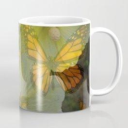 DECORATIVE MONARCH BUTTERFLY FLORAL DREAMS Coffee Mug