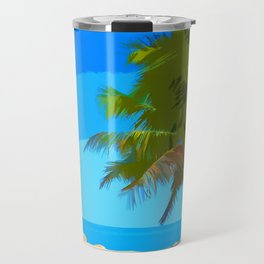 Palm Tree in Key West Travel Mug