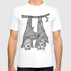 Tickle Bats MEDIUM White Mens Fitted Tee