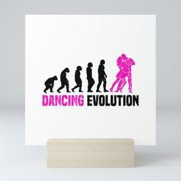 Dancing Evolution T Shirt Dancer Girl TShirt Step Dance Shirt Evolution-Look Gift Idea Mini Art Print